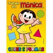 Livro Turma da Mônica - Vamos Aprender as Cores e Formas - Ciranda Cultural