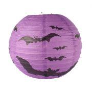 Luminária Redonda de Papel 25cm Morcego