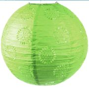 Luminária Japonesa Verde Redonda 30cm