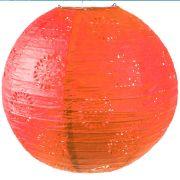 Luminária Japonesa Vermelha Redonda 30cm