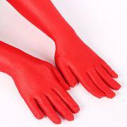 Luva Longa Vermelha de Cetim