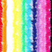 Marabu Sintético Colorido Com Fios Metalizado 75Cm