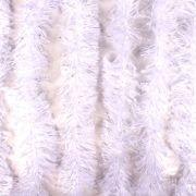 Marabu Sintético com Fios Metalizados - Branco