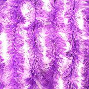 Marabu Sintético Lilás com Fios Metalizados