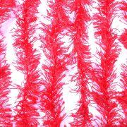 Marabu Sintético Vermelho com Fios Metalizados