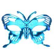 Máscara Borboleta Metalizada Azul