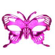 Máscara Borboleta Metalizada Pink