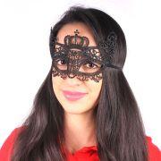 Máscara Rendada Preta Modelos Sortidos - Unidade
