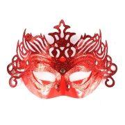 Máscara Veneziana Luxo Vermelha