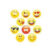 Mini Aplique Decorativo Emoji com 20 unidades