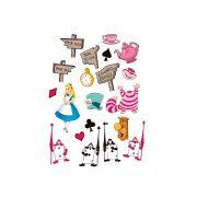 Mini Personagens Decorativos Alice 20 unidades