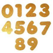 Números em E.V.A Glitter