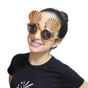 Óculos Concha Dourado com Lente