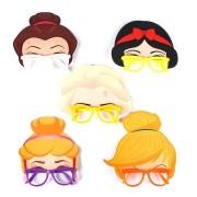 Óculos Máscara Princesas 5 unidades