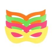 Pacote Com 200 Máscaras Holográficas Gatinha Coloridas