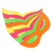 Pacote Com 500 Máscaras Holográficas Gatinha Coloridas