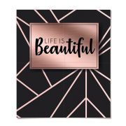 Painel Decorativo 4 Lâminas Life is Beautiful