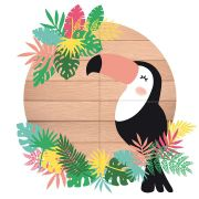 Painel Decorativo Tropical Tucano