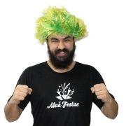 Peruca Arrepiada Verde e Amarela Brasil Copa 2018