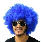 Peruca Black Power Azul Escura