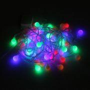 Pisca Pisca Colorido com 60 Bolinhas LED - 110V