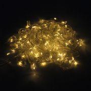 Pisca Pisca com 200 LEDs Branco Âmbar - 110V