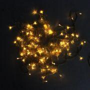 Pisca Pisca LED Branco Âmbar com Fio Verde - 110V