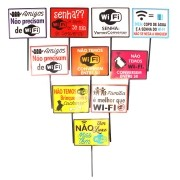 Placas Animadas Mix Wi-Fi 10 unidades