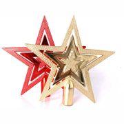 Ponteira Estrela para Árvore de Natal - 15cm