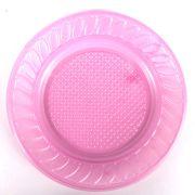 Prato Descartável 15Cm 10Un Pink
