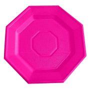 Prato Descartável Oitavado 16cm Pink 10Un