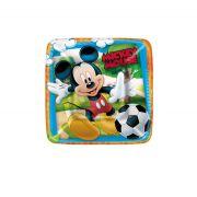 Prato Quadrado 18cm Mickey 8 Unidades