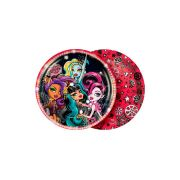 Prato Redondo 18Cm Monster High 8Un