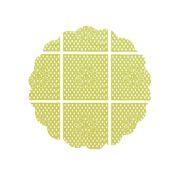 Tapetinho 7Cm Verde Limão 100Un