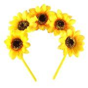 Tiara de Flores Girassol