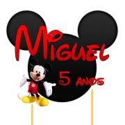Topo de Bolo A Casa do Mickey com Nome e Idade