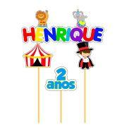 Topo de Bolo Personalizado  Circo