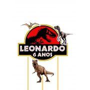 Topo de Bolo Personalizado Dinossauros