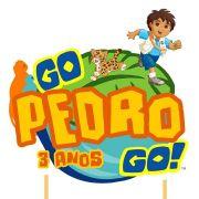 Topo de Bolo Personalizado Go Diego Go