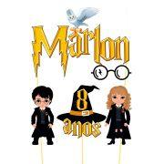 Topo de Bolo Personalizado Harry Potter