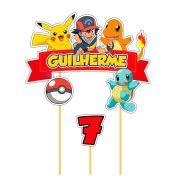 Topo de Bolo Personalizado Pokemon