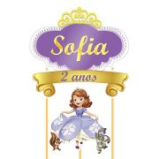 Topo de Bolo Personalizado Princesinha Sofia