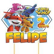 Topo de Bolo Personalizado Super Wings