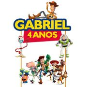 Topo de Bolo Toy Story com Nome e Idade