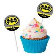 Topper Redondo para Doces Personalizado 15un Batman