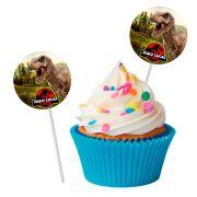 Topper Redondo para Doces Personalizado 15un Dinossauros