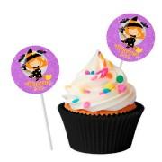 Topper Redondo para Doces Personalizado 15un Halloween