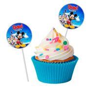 Topper Redondo para Doces Personalizado 15un Mickey Mouse