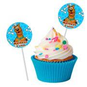 Topper Redondo para Doces Personalizado 15un Scooby-Doo