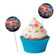 Topper Redondo Personalizado 15un Toy Story 4